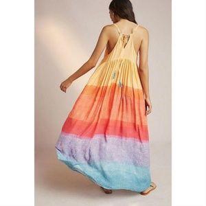 [Anthropologie] Setting Sun Rainbow Ombre Maxi